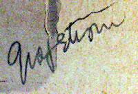 Ruth Sigrid Grafstrom Signature