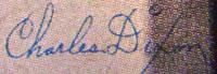Charles Dixon signature