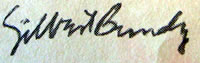 Gilbert Bundy signature