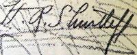 H R Shurtleff signature
