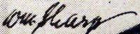 William Sharp Signature